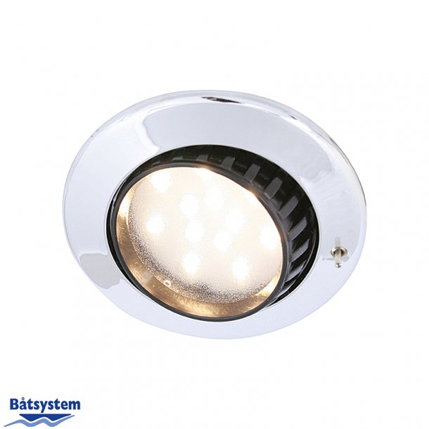BÅTSYSTEM COMET LED DOWNLIGHT KROM M/BRYTER