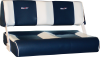 Blå skai m/brede offwhite striper