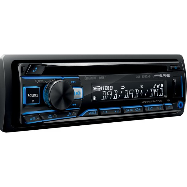 Alpine CDE-205DAB, CD/DAB+/FM-radio, Bluetooth, 4x50W
