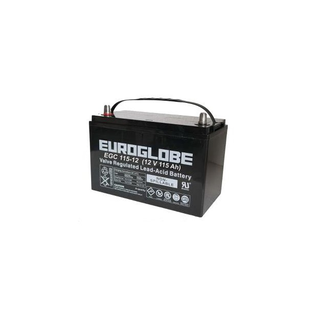 EUROGLOBE AGM EGC115-12, 115 Ah 12 volt