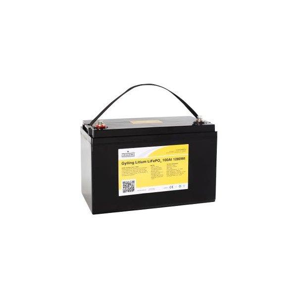 Gylling lithium, 100 Ah, 12,8V (UN38.3 godkjent) Vekt 15kg
