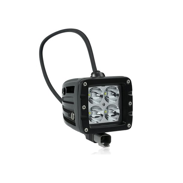 Dekkslyskaster LED 10cm 40W Sort