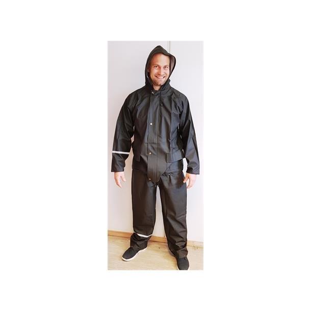 Fritidsregntøy bukse/jakke str S sort