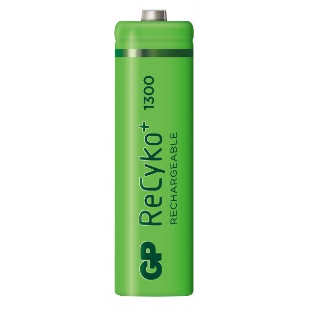 GP ReCyko AA-batteri, 1300 mAh, 130AAHCE, 4-pk