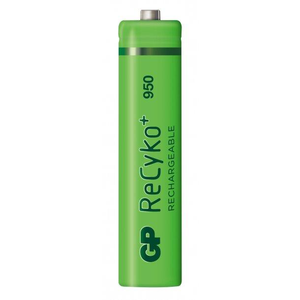 GP ReCyko AAA-batteri, 950 mAh, 100AAAHCE, 4-pk