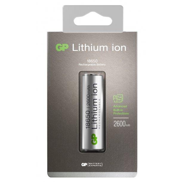 GP Li-ion 18650-batteri, 2600 mAh