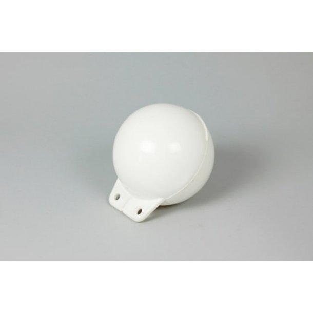 Garnblåse 15cm mykplast hvit