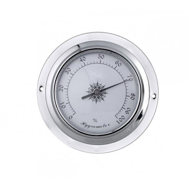 Hygrometer sølv 95mm