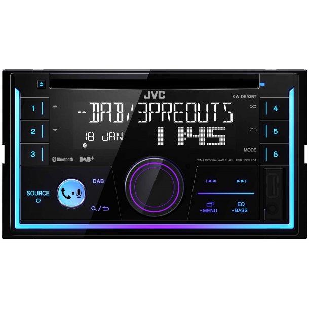 JVC KW-DB93BT, 2-DIN, CD, DAB+, Bluetooth, FLAC