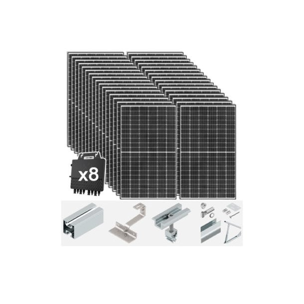 Komplett 10,08 kWp solcelleanlegg til hus og fritidsbolig. Premium Gold