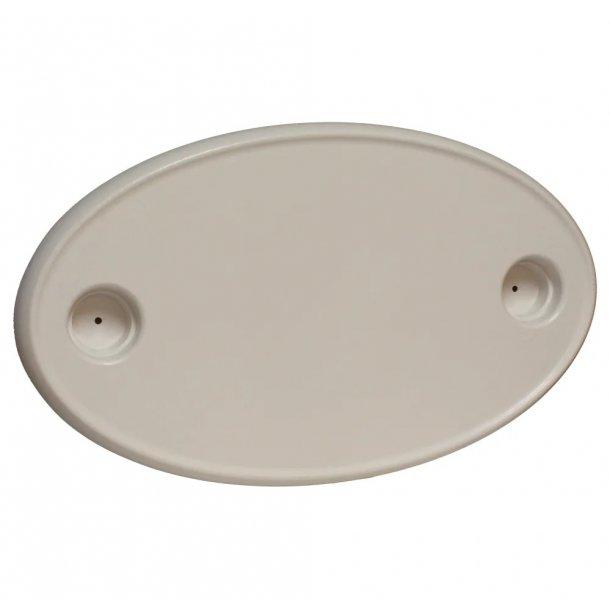 Bordplate oval plast M/2 Koppeh. 457X762Mm