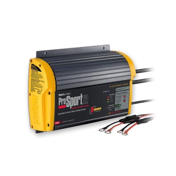 ProSport 12/24V - 12 amp batterilader for 2 batteribanker