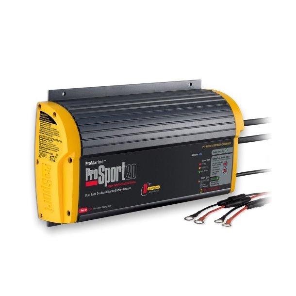 ProSport 12/24V - 20 amp batterilader for 3 batteribanker