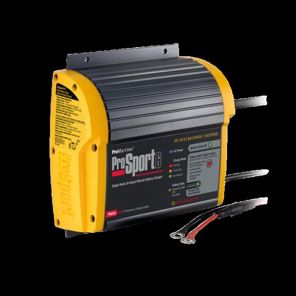 ProSport 12V - 6 amp batterilader for 1 batteribank