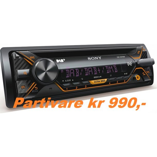 SONY CDX-3201DAB, Radio/CD, DAB+, m/antenne