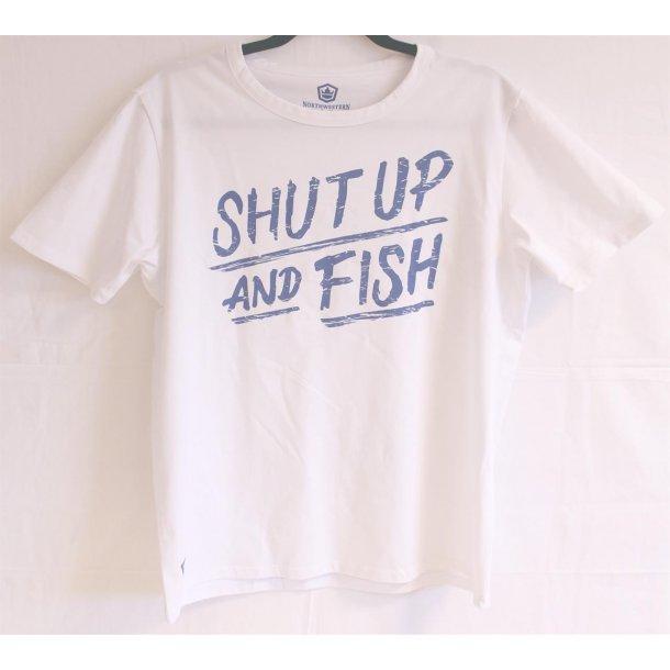 Capt Sig's T-skjorter Shut up and fish