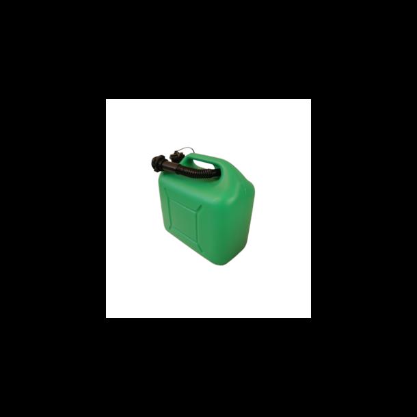 Bensinkanne Trio 10ltr. Plast Grønn