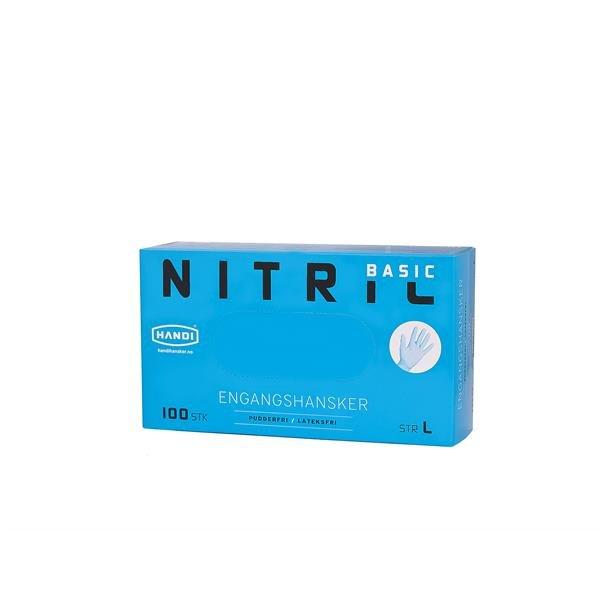 Engangshansker Nitril Handi Basic 10/L