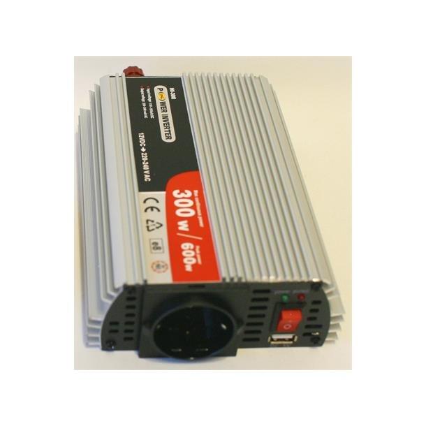 Inverter 12v dc-220v ac 300w m/USB