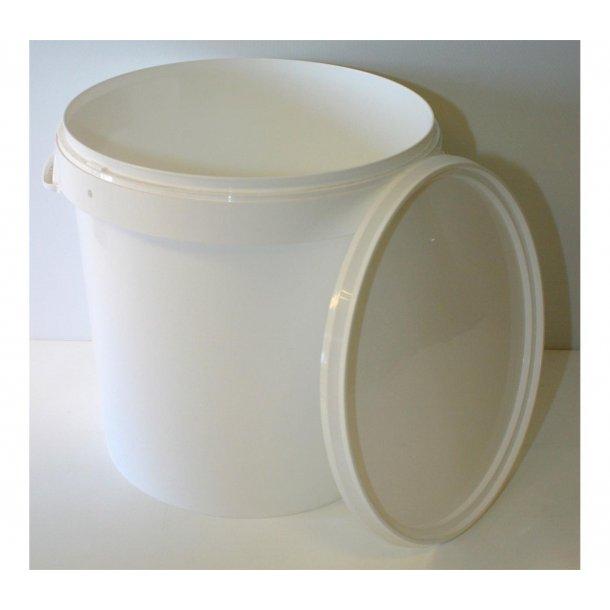 Plastdunk m/lokk, 30 ltr næringsgodkjent
