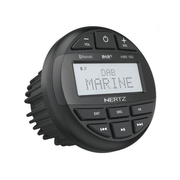 Hertz HMR10D, DAB+ marineradio, Bluetooth, AUX/USB, 4 x 50W, IP66